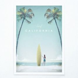 Plakát Travelposter California, A3