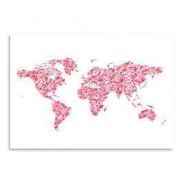 Plakát Americanflat World Blush, 30 x 42 cm