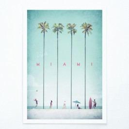 Plakát Travelposter Miami, A3 Obrazy, rámy atabule