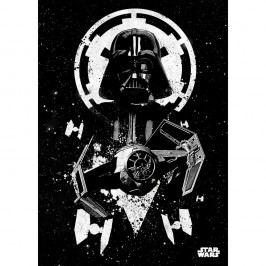 Nástěnná cedule PosterPlate Star Wars Pilots - Tie Advanced Obrazy, rámy atabule