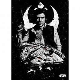Nástěnná cedule PosterPlate Star Wars Pilots - Captain Solo