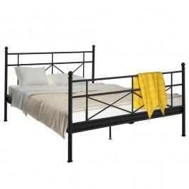 Černá kovová postel Støraa Tanja, 180x200cm Dvoulůžkové postele