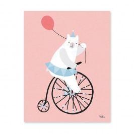 Plakát Michelle Carlslund Cycling Bear, 30x40cm Obrazy, rámy atabule