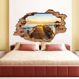 Samolepka Ambiance Landscape Dock and Sunset, 60 x 90 cm Tapety análepky