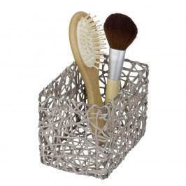 Šedý koupelnový košík Wenko Curly Vybavení koupelny