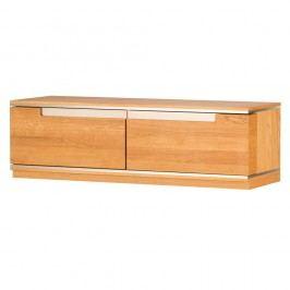 TV komoda  z dubového dřeva se 2 zásuvkami Szynaka Meble Torino