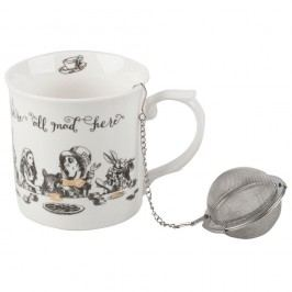 Porcelánový hrnek se sítkem Creative Tops Alice in Wonderland, 300 ml