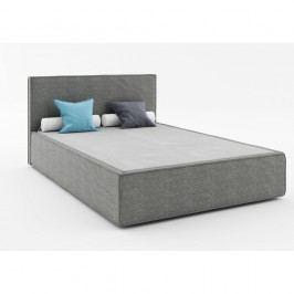 Tmavě šedá dvoulůžková postel Absynth Mio Soft, 160x200cm