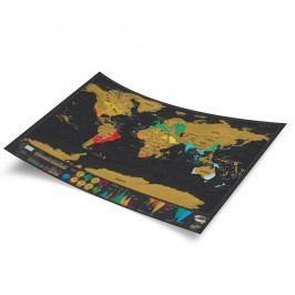 Stírací mapa světa Luckies of London Travel Deluxe