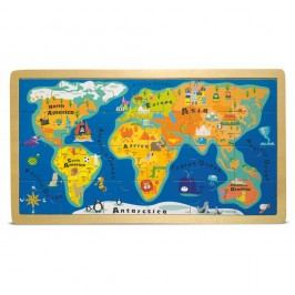 Puzzle v rámu Legler World Map