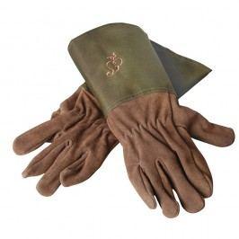 Zahradnické kožené rukavice se zeleným lemem Esschert Design Spelter