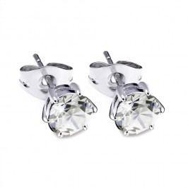 Šedé náušnice s krystaly Swarovski® GemSeller