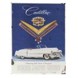 Nástěnná retro cedule Novita Cadillac