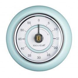 Modrá kuchyňská magnetická minutka Kitchen Craft Living Nostalgia,⌀7,5cm