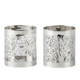 Sada 2 svícnů Villa Collection  Silver Stain,7cm