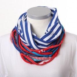 Modrobílý šátek KlokArt
