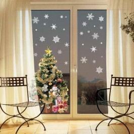 Sada 30 vánočních samolepek Ambiance Christmas White Flakes