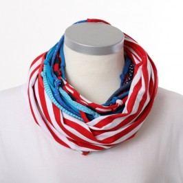 Červenobílý šátek KlokArt