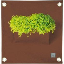 Hnědý závěsný květináč The Green Pockets Amma, 45x50cm