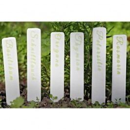 Sada 6 porcelánových štítků na bylinky Boltze Herb