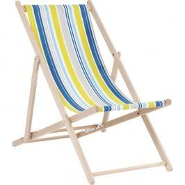 Modré pruhované  lehátko Kare Design Summer