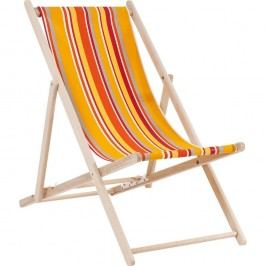Oranžové pruhované  lehátko Kare Design Summer