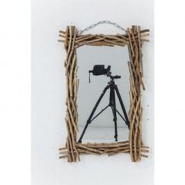 Dřevěné zrcadlo Kare Design Twig, 90x60cm