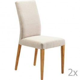 Sada 2 krémových jídelních židlí Kare Design  Mara