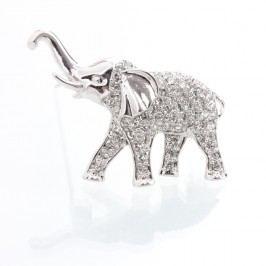 Brož se Swarovski Elements Laura Bruni Elephant