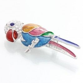 Brož se Swarovski Elements Laura Bruni Parrot