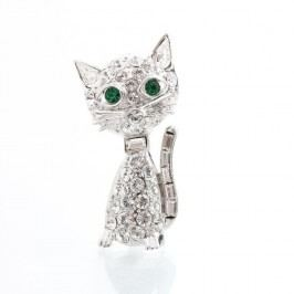 Brož se Swarovski Elements Laura Bruni Kitty Cat
