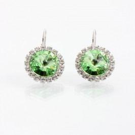 Zelené náušnice se Swarovski Elements Laura Bruni Yasmine Jewel
