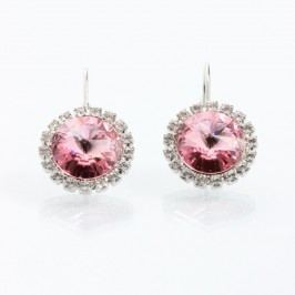 Růžové náušnice se Swarovski Elements Laura Bruni Yasmine Jewel