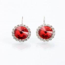 Červené náušnice se Swarovski Elements Laura Bruni Yasmine Jewel
