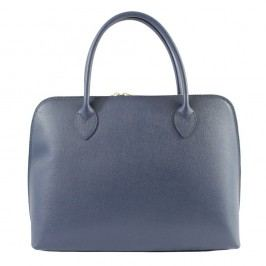 Modrá kožená kabelka Chicca Borse Chunli