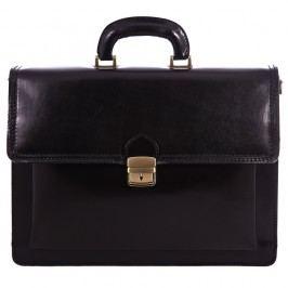 Černá pánská kožená taška Chicca Borse Ciryl