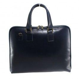 Modrá kožená taška Chicca Borse Camilla