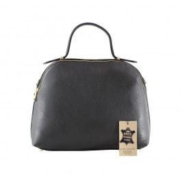 Černá kožená kabelka Chicca Borse Turma
