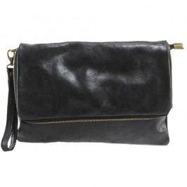 Černá kožená peněženka Chicca Borse Grena