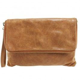 Hnědá kožená peněženka Chicca Borse Grena