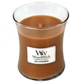 Svíčka s vůní zázvoru a koření WoodWick Perník, dobahoření60hodin