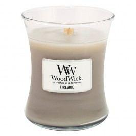 Svíčka s vůní jantaru, vetiveru a pižma WoodWick Oheň v krbu, dobahoření60hodin Svíčky aaromalampy