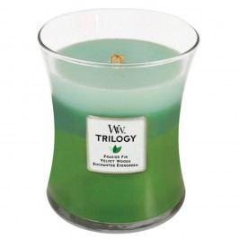 Svíčka s vůní jedlového dřev a citrusů WoodWick Trilogy Procházka lesem, dobahoření60hodin