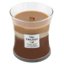 Svíčka s vůní skořice, ovsa a mandlového mléka WoodWick Trilogy Cukroví, dobahoření60hodin