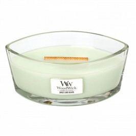Svíčka s vůní citronu, limetky, vanilky a smetany WoodWick Sladká zmrzlina, dobahoření80hodin