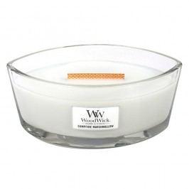 Svíčka s vůní marshmallows WoodWick Pěnové bonbóny na ohni, dobahoření80hodin