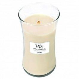 Svíčka s vůní kokosového mléka a vanilky WoodWick, dobahoření130hodin