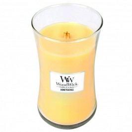 Svíčka s vůní zimolezu a jasmínu WoodWick, dobahoření130hodin