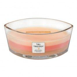 Svíčka s vůní koláče, pomeranče a zázvoru WoodWick Trilogy Čerstvý koláč, dobahoření80hodin Svíčky aaromalampy