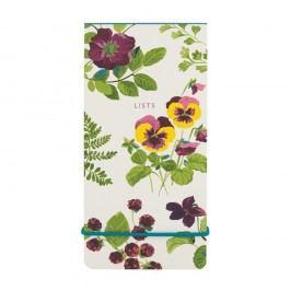 Linkovaný poznámkový blok s elastickou gumou Laura Ashley Parma Violets by Portico Designs, 80stránek